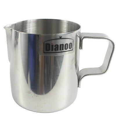 Dianoo Milk Pitcher Stainless Steel Milk Cup Good Grip Frothing Pitcher Coffe...