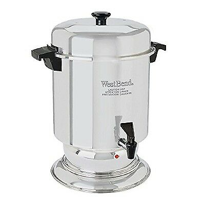 West Bend 55 Cup Commercial Stainless Steel Coffeemaker Silver