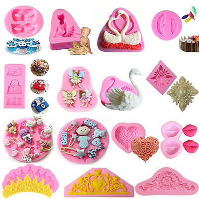 59 Silicone Fondant Mould Cake Mold Chocolate Baking Sugarcraft Decorating Tools