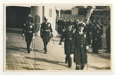 King Alphonso of Italy on board HMS London c1930 Rp