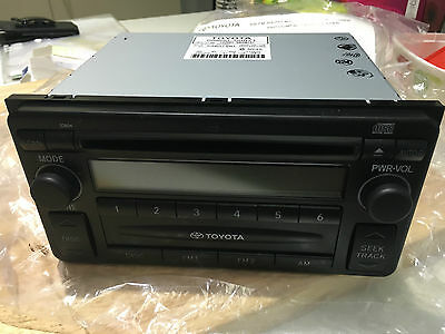 Genuine Toyota Am/fm Radio With Electronic Tuner, Cd Player, Part# 08600-00971