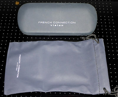 French Connection Glasses Case with soft case
