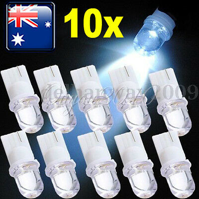 10 Car Interior Wedge Bulb T10 Xenon White LED Side Light  Lamp Parking