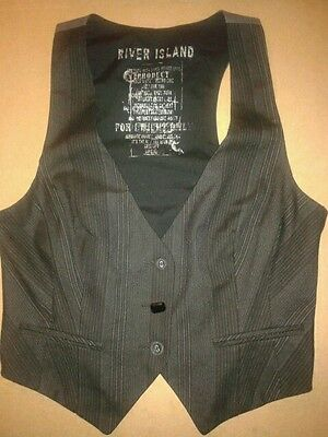 Used Womans Waistcoat, By River Island Size 12