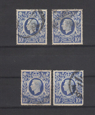 George VI 10/- Stamps, SG 478