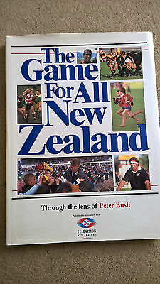 1989 THE ALL BLACKS   'Signed'    HARDBACK RUGBY PHOTOS BOOK
