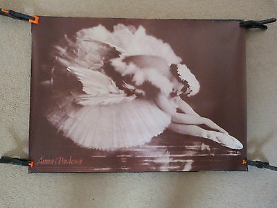 Anna Pavlova  Poster,the Dying Swan  Museum Of London 1981