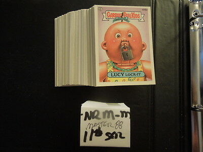 1988  88  Garbage Pail Kids GPK USA Series 11  Complete Set  88 cards Near Mint!