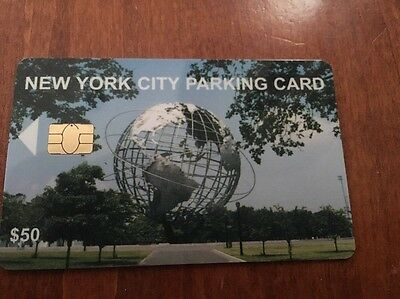 New York City Muni Meter Parking Card 50.00 Value. Unused