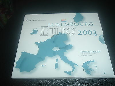 Euro Coins Luxembourg 2003