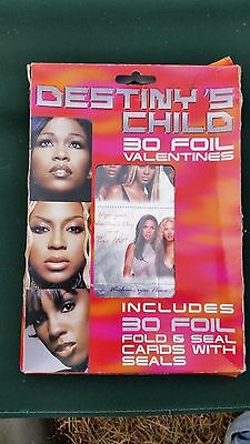 2001 Destiny's Child Foil Valentines 30 Fold and Seal Cards with Seals