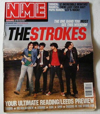 THE STROKES New Musical Express NME August 25th 2001 NME with carrier bag