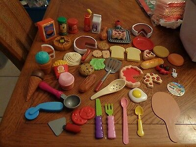 50 Piece  Play Food and dishes Assortment Toy Set For Kids NEW