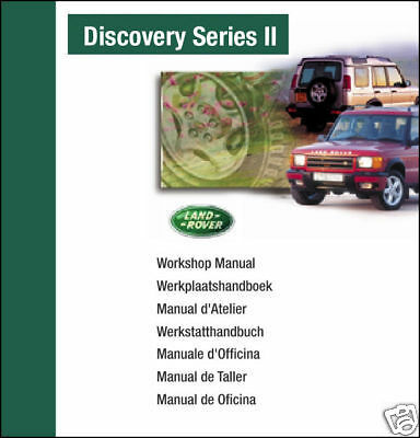 Land Rover Discovery II 1999 2000 2001 2002 2003 Workshop Shop Service Manual CD