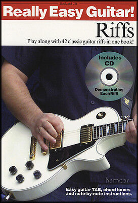 Really Easy Guitar Riffs TAB Music Book & Play-Along CD 42 Classic Riffs