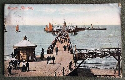 CPA. MARGATE. Angleterre. 1907. The Jetty. Valentine's Series.