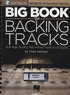 Big Book of Backing Tracks Guitar Music Book/USB & DLC 200 Play-Along Tracks