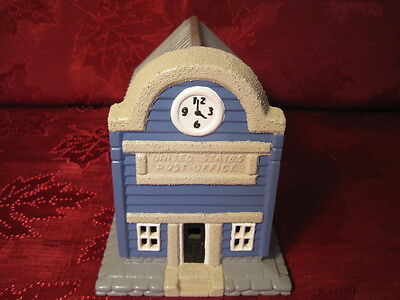 Ceramic Plaster Model Train Railroad Layout Display Building US Post Office