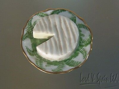 Rochard Limoges Porcelain Cheese Plate Hinged Trinket Box-France