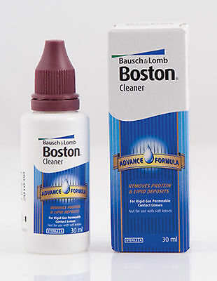 30ml Bausch & Lomb Boston Advance Hard & Gas Permeable Contact Lens Cleaner B&L
