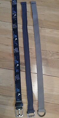 "Boys set of 3 belts black, grey and cream. 27"" 70 cm"