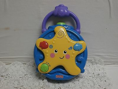 Fisher-Price OCEAN WONDERS STARFISH Crib Soother Projector MUSIC Night Light