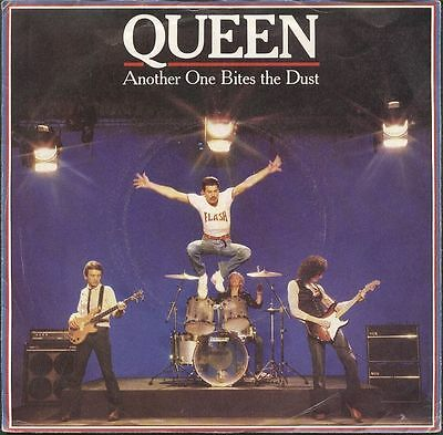 "QUEEN UK 1980 7"" Single Another One Bites The Dust Disc=NearMINT"