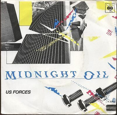 "MIDNIGHT OIL Rare UK 1982 7"" Single US FORCES A3343"