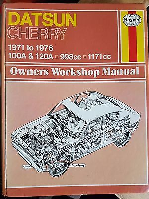 Used Haynes 195 Manual Datsun Cherry 1971 to 1976 100a &120a