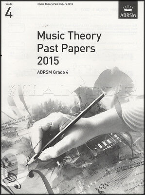 ABRSM Music Theory Past Papers 2015 Grade 4 Sheet Music Book Exam Pieces