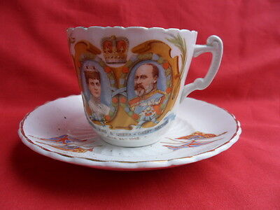 1902 Coronation of King Edward VII, Commemorative Teacup & Saucer