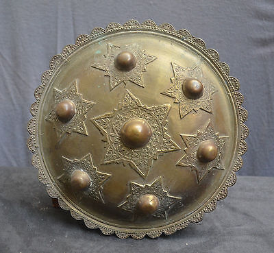 Antique and nice quality Aceh brass shield, Sumatra Indonesia. Islamic