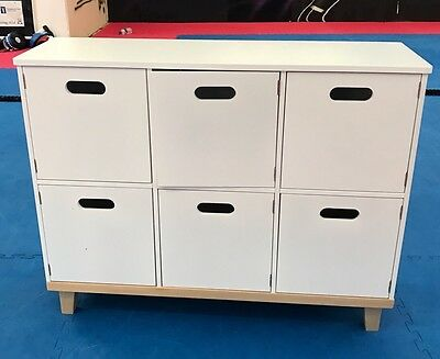 Gltc Oslo Children's Storage Toy Cupboard -white By Great Little Trading Company