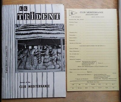 Le Trident - Club Med Brochure Journal 1959 English Edition - Mediterranee