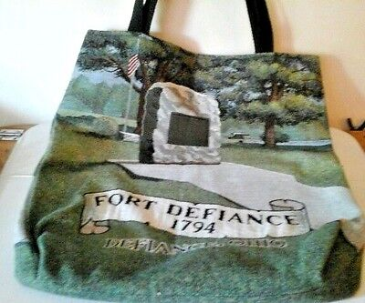 Port Defiance Riddle and Cockrell Woven Tapestry Tote Bag
