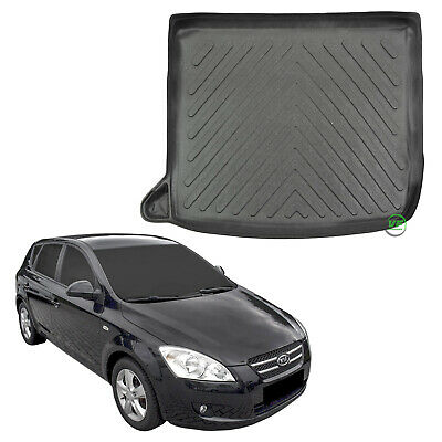 Rubber Boot Tailored Black Mat Protector KIA CEE/'D mk2 Hatchback 5 doors 2012-up