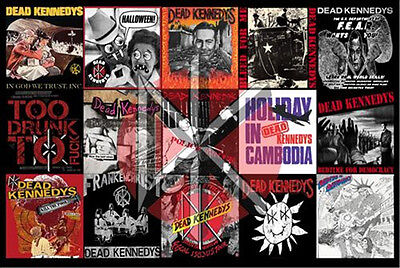 "Dead Kennedys Collage Poster 24"" x 36"" Jello Biafra  DK Album and Singles Art"