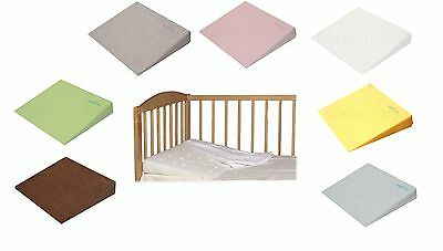 Baby Child Safety Foam Flat Pillow Cot Bed Anti Reflux Wedge Possitioner Cover