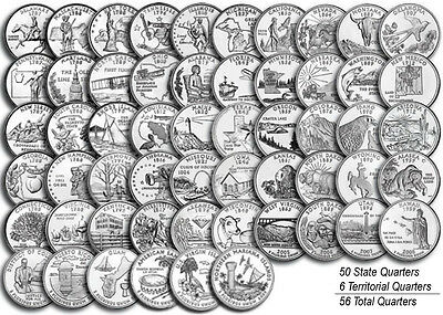 "1999-2009 US State Territorial Quarter Complete Uncirculated Set ""P&D"" 112 coins"