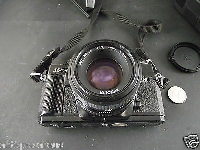 MINOLTA X-700 CAMERA WITH MD  50 mm 1 1.7  LENS