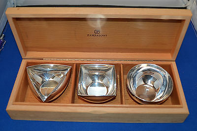 3 Pampaloni Sterling Bowls - Round, Square & Triangle - OB