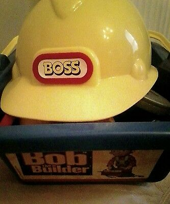 Bob the builder tools in box and hat