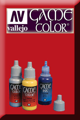 Game Color Bloody Red 72010 Acrylic Paint Colore Acrilico Rosso Sangue VALLEJO