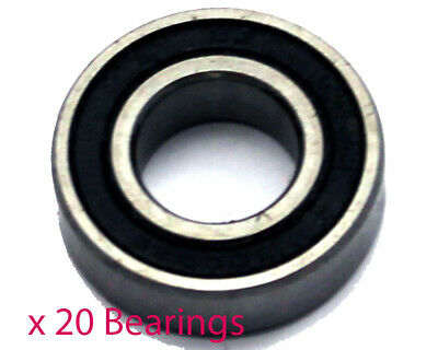 Pack of 20 x 6203RS 17mm Wheel Bearings (17mm x 40mm x 12mm)