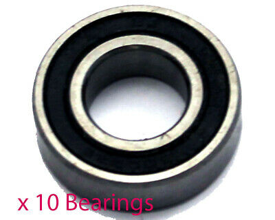 Pack of 10 x 6203RS 17mm Wheel Bearings (17mm x 40mm x 12mm)