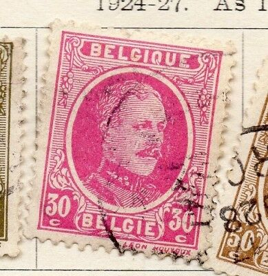 Belgium 1924-27 Early Issue Fine Used 30c. 130843