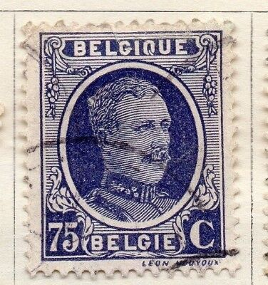 Belgium 1924-27 Early Issue Fine Used 75c. 130845