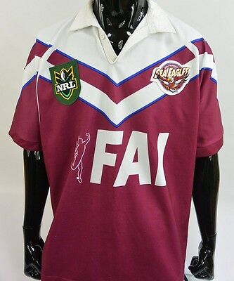 Canterbury Manly Warringah Sea Eagles Rugby Jersey NRL Shirt SIZE XL (adults)