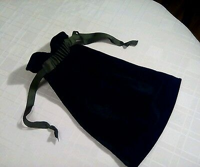 Bottle green regency inspired reticule/shoe bag/ handbag (home made)