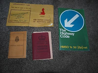 Vintage Documents / Driving Licences / Vintage Highway Code And Bsm Ephemera